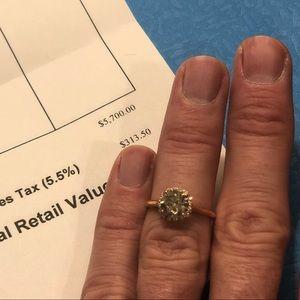 Women's engagement ring Champagne Diamond 1.50ct